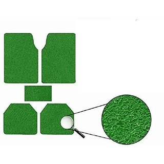 Generic Anti Slip Noodle Car Floor Mats SET OF 5 Green For Maruti 800