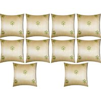 A Pack Of 10 Pcs., Vaachie Home 10H131014 GREEN LEAVES DESIGN