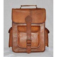 CraftAndArts Real Leather School Rucksack Handmade Messenger Bagpack Vintage Bag