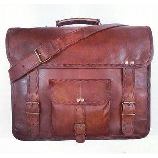 Real Genuine Leather Messenger Bag Traditionally Handmade