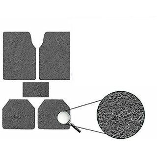 Generic Anti Slip Noodle Car Floor Mats SET OF 5 Grey  For Renault Pulse