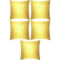 A Pack Of 5 Pcs., Vaachie Home 5H191014 LIGHT YELLOW SOLID SOLID DESIGN