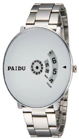 New Paidu White Watch For Men  ,Boys  New Looking Watch