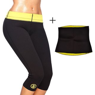 23baa75f20 Buy Hot Shaper Pant Body Shaper Waist Shaper with Hot Belt Tummy Tucker  Shaper Combo Online - Get 72% Off
