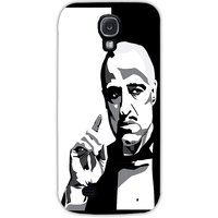 Snoogg Godfather Black And White Case Cover For Samsung Galaxy S4