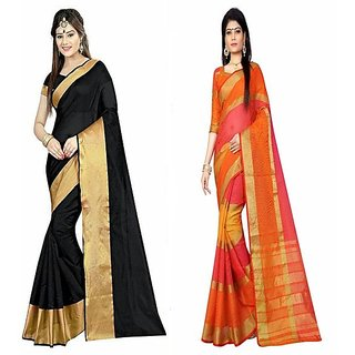 Sharngar Divya Combo Of 2 Cotton Saree Combo