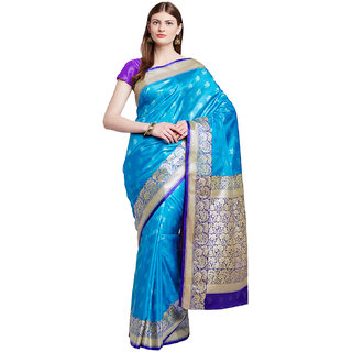 Chhabra 555 Blue  Gold Coloured Banarasi Art Silk Saree