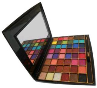 48 colors sparkling glossy look eyeshadow pallete by rose leaf