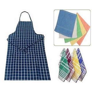 xy decpr combo of Apron , 4 Napkin , face towel multicolour