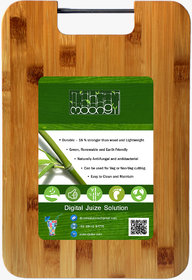 Moongil Cutting  Chopping Bamboo Wood board best for vegetable and meat cutting - Steel Handle