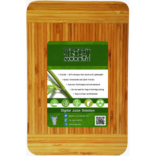 Moongil Cutting and Chopping Bamboo Wood board best for vegetable and meat cutting - Two Color Full Piece