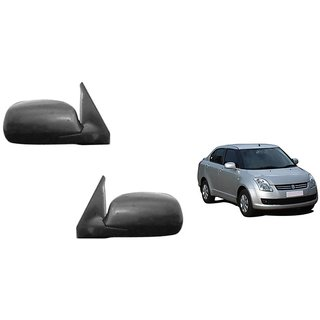 Generic Car Manual Side Rear Mirror Assembly SET OF 2 Maruti Swift Dzire Old