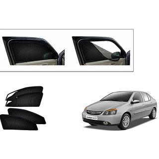 Generic Magnetic Zipper Curtain Car Sunshades Set Of 4-Tata Indica ecs