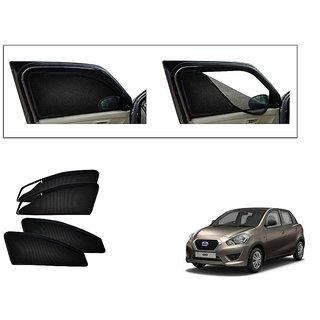 Generic Magnetic Zipper Curtain Car Sunshades Set Of 4-Datsun Go