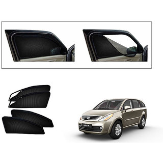 Generic Magnetic Zipper Curtain Car Sunshades Set Of 4-Tata Aria