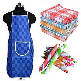 combo - 1 bath towel + 1 apron + 1 hand towel