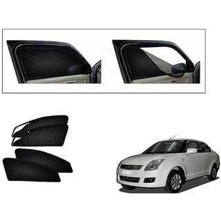 Generic Magnetic Zipper Curtain Car Sunshades Set Of 4-Maruti Suzuki Dzire Old
