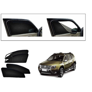 Generic Magnetic Zipper Curtain Car Sunshades Set Of 4-Renault Duster