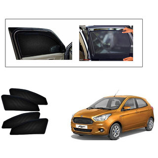 Generic Magnetic  Curtain Car Sunshades Set Of 4-Ford Figo