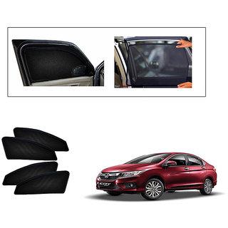 Generic Magnetic  Curtain Car Sunshades Set Of 4-Honda City ivtech