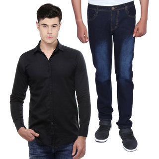Red Code Combo Of Shirts And Jeans For Men