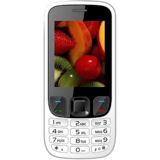 IKALL K6303 White Mobile Phone 2.4 InchDual Sim 1800mAh Battery (No Earphones)
