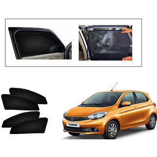 Generic Magnetic  Curtain Car Sunshades Set Of 4-Tata Tiago