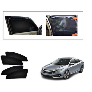 Generic Magnetic  Curtain Car Sunshades Set Of 4-Honda Civic