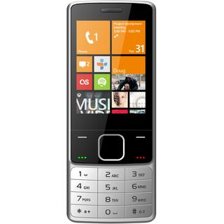 IKALL K6300 Silver Mobile Phone 28InchDual Sim 1800mAh Battery (No Earphones)