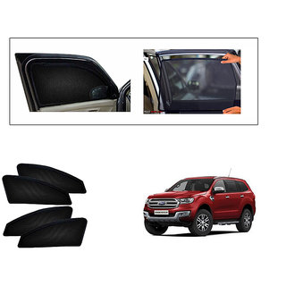 Generic Magnetic  Curtain Car Sunshades Set Of 4-Ford Endeavour New