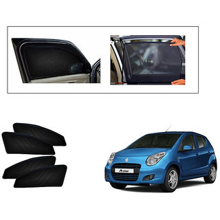 Generic Magnetic  Curtain Car Sunshades Set Of 4-Maruti Suzuki A Star