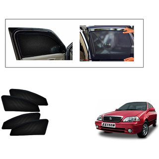 Generic Magnetic  Curtain Car Sunshades Set Of 4-Maruti Suzuki Esteem