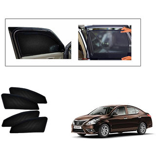 Generic Magnetic  Curtain Car Sunshades Set Of 4-Nissan Sunny