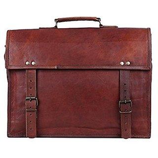 znt leather 15'' vintage leather simple md laptop messenger bag for men  women