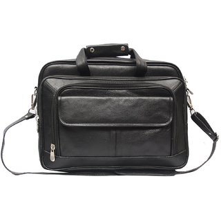 High touch leather shoulder bag for men (Color Black)