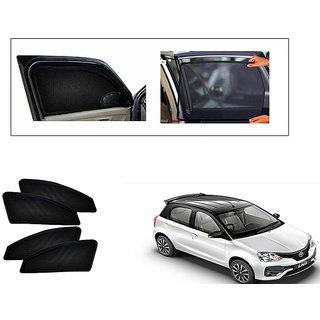 Generic Magnetic  Curtain Car Sunshades Set Of 4-Toyota Etios Liva