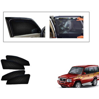 Generic Magnetic  Curtain Car Sunshades Set Of 4-Tata Sumo