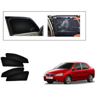Generic Magnetic  Curtain Car Sunshades Set Of 4-Tata Indigo