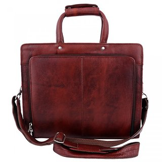 078477a56e Buy ZINT MEN S PURE LEATHER HARD BROWN LAPTOP BAG OFFICE BAG   MESSENGER BAG    PORTFOLIO BAG   BRIEFCASE GIFT FOR HIM Online - Get 11% Off
