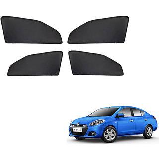 Generic Z Black  Magnetic  Curtain Car Sunshades Set Of 4-Renault Scala