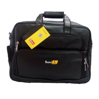 Skyline Office File Leather Laptop Bag -With Removable Shoulder strap-With Warranty-788