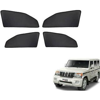 Generic Z Black  Magnetic  Curtain Car Sunshades Set Of 4-Mahindra Bolero
