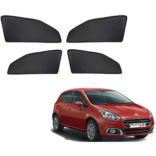Generic Z Black  Magnetic  Curtain Car Sunshades Set Of 4-Fiat Punto Evo