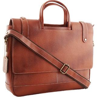 SCHARF Genuine Leather 15 Portfolio Laptop CarryCase AMB87