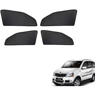 Generic Z Black  Magnetic  Curtain Car Sunshades Set Of 4-Mahindra Xylo
