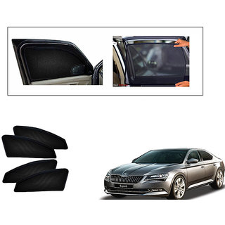 Generic Magnetic  Curtain Car Sunshades Set Of 4-Skoda Superb