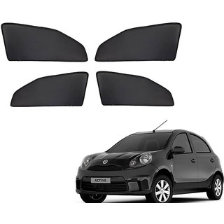 Generic Z Black  Magnetic  Curtain Car Sunshades Set Of 4-Nissan Micra Active