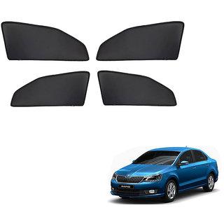 Generic Z Black  Magnetic  Curtain Car Sunshades Set Of 4-Skoda Rapid