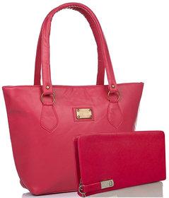 Clementine Women's Combo Of Handbag And Wallet( Pink/sskclem216)