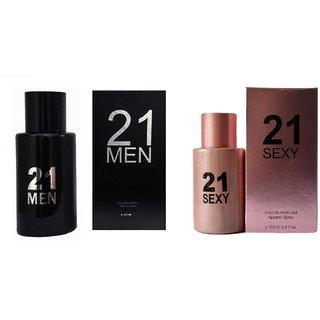 Perfume King Exotic 21 Men Black And 21 Sexy Combo Perfume 200 ML